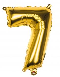 Aluminium-Ballon Zahl 7 gold 36cm