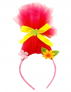 Troll-Haarreifen für Damen Accessoire pink-gelb