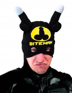Biteman-Maske schwarz-gelb-weiss