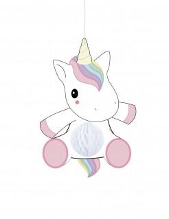 Einhorn-Hängedeko für Babys weiss-rosa 25cm