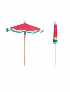 Cocktail-Schirme Melone Partydeko 12 Stück bunt 10 cm