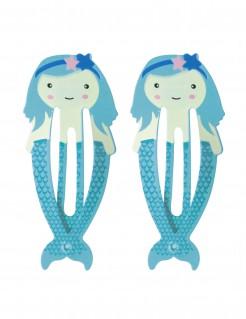 Meerjungfrauen Haarklammern für Mädchen 2 Stück blau 5,5 cm