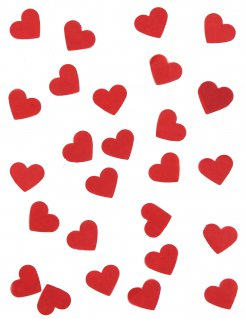 Herz-Konfetti Streudeko rot 20g