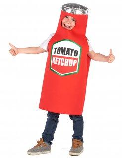 Ketchup-Kinderkostüm Fasching rot-weiss