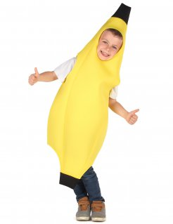 Bananen-Kostüm für Kinder Karneval gelb-schwarz
