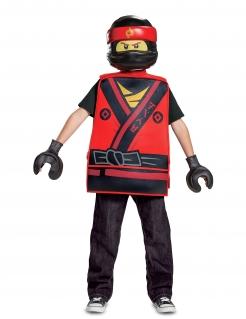 Kai Ninjago™-Kostüm für Kinder Karneval rot-gelb
