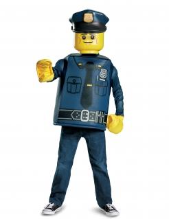 Polizisten-Kostüm Lego™ für Kinder Karneval blau-gelb