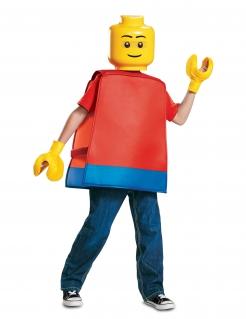 Lego®-Figur Kostüm für Kinder Karneval rot-gelb-blau