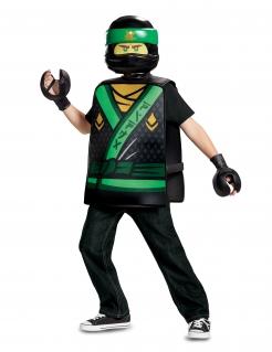 Ninjago™ Kostüm für Kinder Lloyd Fasching schwarz-grün