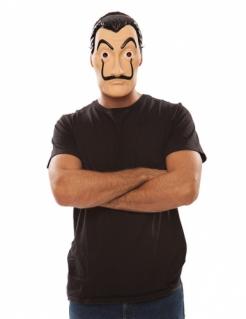 Haus des Geldes™-Lizenzmaske Bankräuber-Maske hautfarben