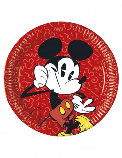 8 Pappteller Mickey Retro-Look 23 cm