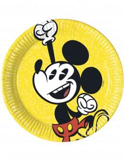 8 kleine Pappteller Mickey Retro-Look 20 cm
