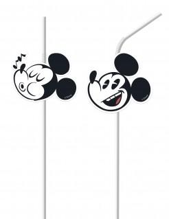 6 Strohhalme Mickey Mouse Retro