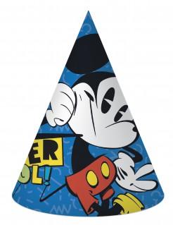 Micky Maus™-Partyhüte Disney™-Lizenzartikel 6 Stück blau
