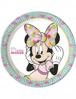 Minnie Maus™-Partyteller Tropen-Motiv 8 Stück bunt 23cm