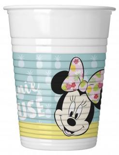 Minnie Maus™-Partybecher Tropen-Motiv 8 Stück bunt 200ml
