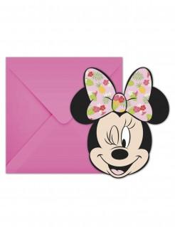Minnie Maus™-Einladungskarten 6 Stück rosa