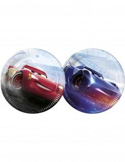 Cars™-Partyteller Flash McQueen™ und Jackson Storm™ 8 Stück bunt 23cm