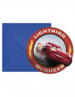Disney Cars 3™ Einladungskarten mit Umschläge 6 Stück bunt