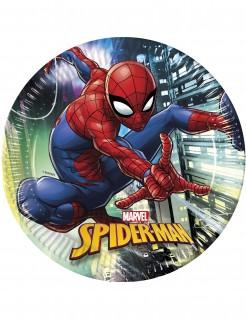 Spiderman™-Partyteller Häuserschlucht-Motiv 8 Stück bunt 23cm