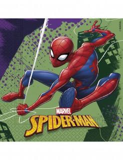 Spiderman™-Partyservietten Marvel™-Papierservietten 20 Stück grün-bunt 33x33cm