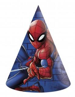 Spiderman™-Partyhüte 6 Stück blau-rot