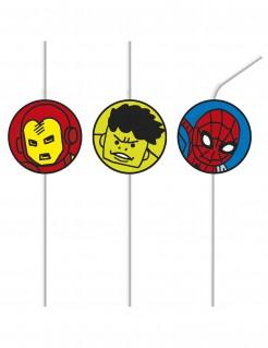 Strohhalme mit Superhelden