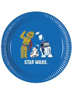 Star Wars™-Pappteller Star Wars Forces™ 8 Stück blau-bunt 20cm