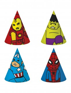 Avengers™-Partyhüte 6 Stück bunt