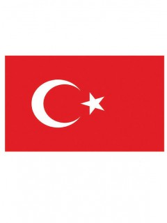 Türkei-Flagge rot-weiss 90x150cm