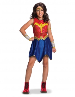 Wonder Woman™ Justice League™ Kinderkostüm blau-rot-gold
