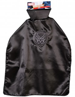 Black Panther™ Umhang für Kinder schwarz