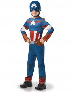 Captain America™-Lizenzkostüm für Jungen blau-rot-weiss