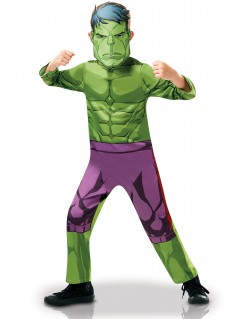 Hulk™-Kinderkostüm Anzug und Maske grün-lila