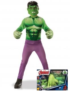 Hulk™-Lizenzkostüm für Kinder grün-violett