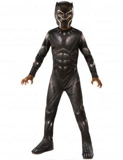 Black Panther™-Kinderkostüm für Jungen schwarz