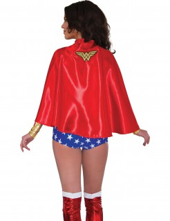 Wonder Woman™-Umhang Lizenz-Kostümaccessoire rot-goldfarben