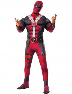 Deadpool™-Kostüm Marvel™-Linzenzartikel rot-schwarz