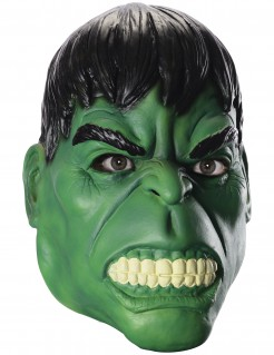 Hulk™ Maske Avengers™ Latexmaske grün-schwarz-weiss