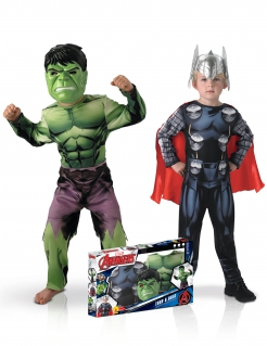 Marvel™-Paarkostüm Thor™ und Hulk™ Kinderkostüm bunt