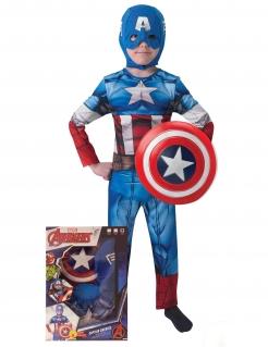 Captain America™-Kinderkostüm Marvel-Lizenzartikel blau-rot-weiss