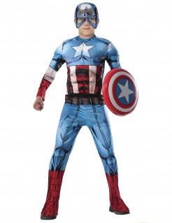 Captain America™-Kinderkostüm Deluxe Marvel blau-rot-weiss