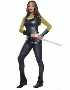 Gamora™-Damenkostüm Marvellizenzprodukt schwarz-grün