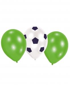 Fussball-Luftballons Partydeko Sport 6 Stück grün-weiss