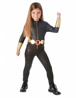 Edles Black Widow-Kinderkostüm Avengers™-Lizenzkostüm schwarz-gold
