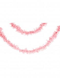 Papier-Girlande Partydeko rosa 7 m