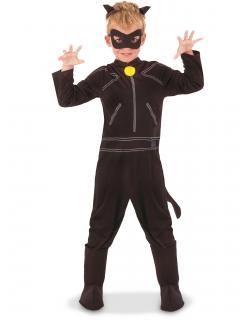 Cat Noir™-Kostüm für Kinder Miraculous™-Lizenzkostüm schwarz