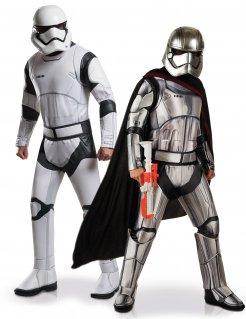 Star Wars™-Paarkostüm Stormtrooper™ und Captain Phasma™ schwarz-weiss-silber