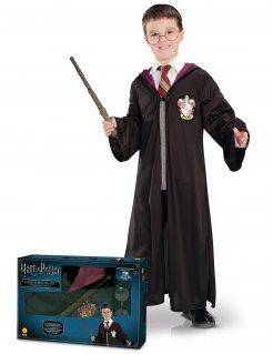 Harry Potter™-Kostümset für Kinder 3-teilig Halloween schwarz-rot