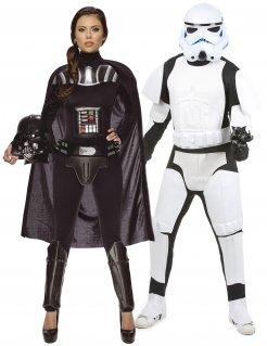 Star Wars™-Paarkostüm Darth Vader™ und Stormtrooper™ schwarz-weiss